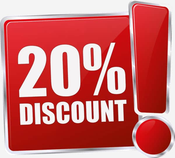 20% off discount for backlink boost package
