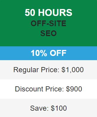 10% seo discount