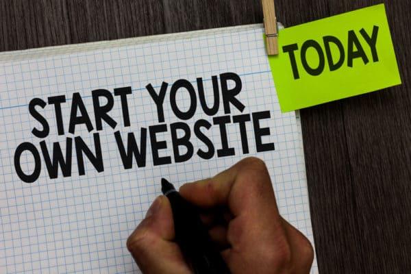 website builder creating a design